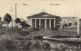 Vilnius. Rotušės fontanas 1918m. / The City Hall square fountain. 1918