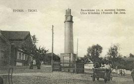 Trakai. Vilniaus gatvė ir Šv. Jono kolona / Vilnius street and St. John's column