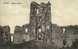Trakai. Pilies griuvėsiai. Leid. F. Musko / The Trakai castle rubble. Pub. F. Musko