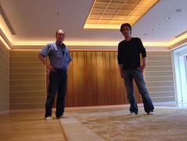 挟土秀平氏の土壁のひとつ、ザ・ペニンシュラ東京ホテル様でも同様の施工をさせていただきました