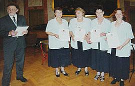 Frau Monika Borrmann / Frau Helga Krause / Frau Gisela Oertel / Frau Peggy Jedlicka (von links)