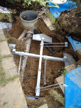 地下に埋まる支柱