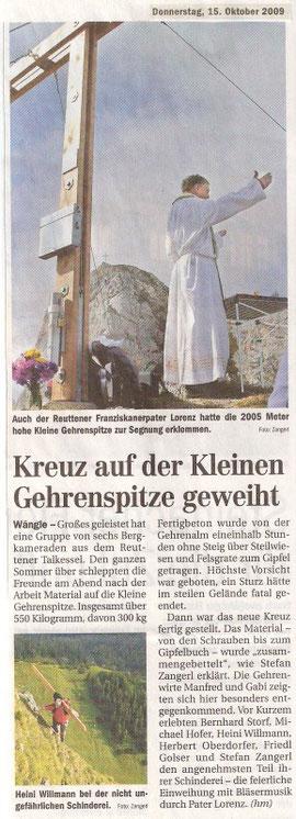 Tiroler Tageszeitung 15.10.2009