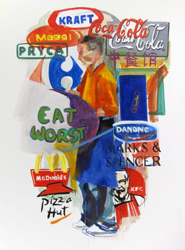 """Eat worst"" Oil/canvas. 150x200. 2010, Bilbo"