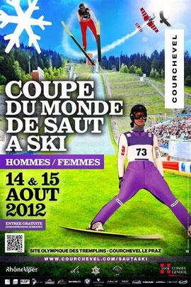 Coupe du Monde de Saut a Ski Courchevel 2012  Les aigles du Léman voltige  patrouille aerienne