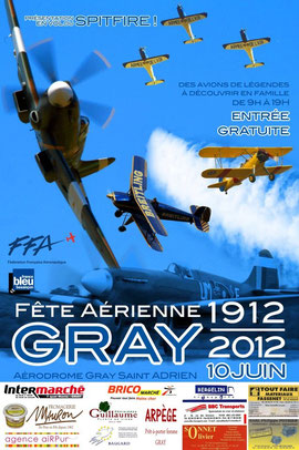 Fête Aérienne de  Gray 2012  Cartouche dorée Meeting aerien gray 2012 centenaire Aerodrome gray st adrien spotter