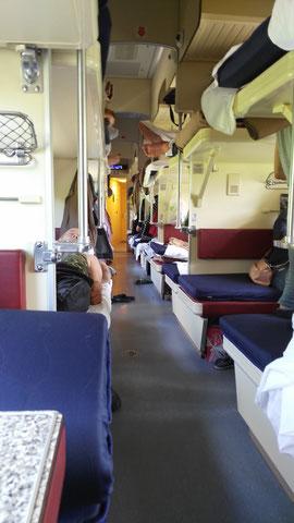 Dans le train entre Moscou et Irkoustk (Transsibérien)