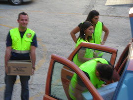 Distribuzione aiuti Caritas