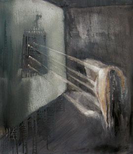 Das letzte Grubenpferd, Öl auf Baumwollgewebe, 60 x 70 cm, 2007