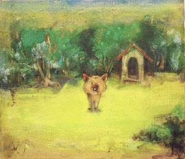 犬の庭 2006年 53x45.5cm