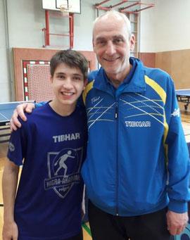 Tischtennistrainer und Philosoph. Attila Bathory hat ein gutes Händchen für das Training mit Nachwuchsspielern.