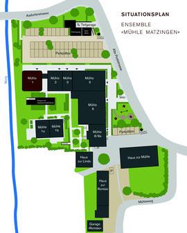 Mühle Matzingen Lage Situation Übersicht