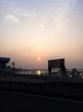 西湘バイパスまではこの通りキレイに晴れていました。