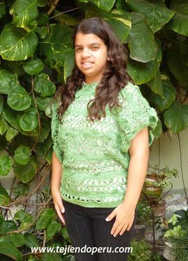 chaleco tejido en horquilla - hairpin lace vest