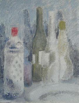 Bodegón con botellas