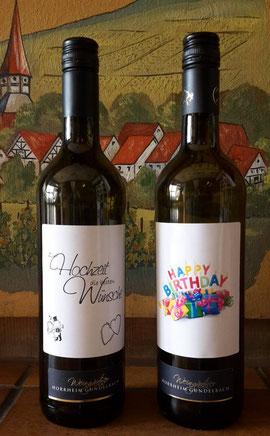 Individuelle Weinflaschenetiketten