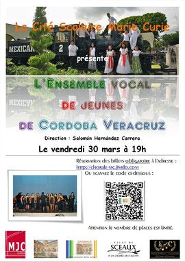 L'affiche de l'évènement créée par l'équipe de communication de la Chorale