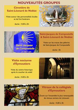 Cliquez sur l'image pour télécharger l'offre complémentaire (nouvelles visites et randonnées) de la brochure groupes du Pays d'art et d'histoire