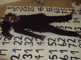 pardon Jesus...performance 2013,galerie art contemporain de Yaoundé