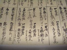 撃剣組合表(新潟県武芸流派一覧のいろんな物参照)