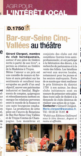 Article du Rotarien oct 2011