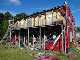 27.06.2011 - Das ASH nach dem ersten Brandanschlag