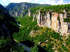 Nord Albanien,Schlucht in Alpen-Gebierge