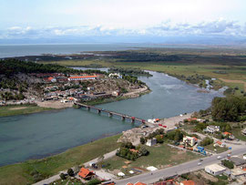 Shkodra-See u. Buna-Fluss Ansicht.