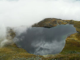 Lago Bianco (wirkt wie ein großer Plasmaspiegel)