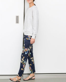 Zara Floral Tapered Trousers