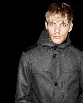 Kooples wool hooded coat