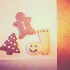 本日のおやつは、メイプルクッキーのクリスマスバージョンでしたよ〜♡好評でした〜^^