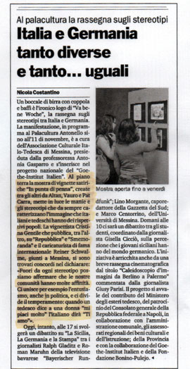 GAZZETTA DEL SUD 08/11/2011
