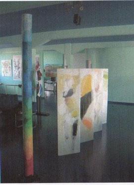 Ausstellung City Lofts (mit Rollsäule und Paravent)