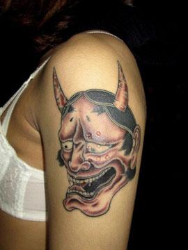 般若の刺青、和彫り