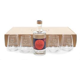 Geschenkbox Gin, Waldbeere, Gin Gläser