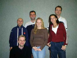 2.Mannschaft v.l.: Karsten Jörgens, Martin Raulfs, Andreas Rottmann, Miriam Ziegner, Nicole Zoltek und Christian Bauer