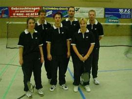1.Mannschaft v.l.: Judith Bienen, Michael Backhaus, Daniel Schwenk, Bernd Griesebock, Anja und Ulli Honrath