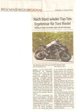 Wochenspiegel Mittweida, Schleizer Dreieck Rennen