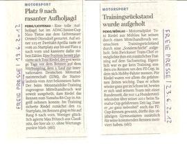 Freie Presse, Toni Riedel, Training, Motorradtraining, PZ Cup