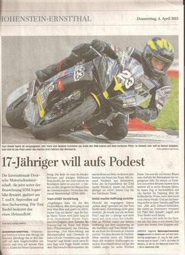 Freie Presse Hohenstein 04.04.2013