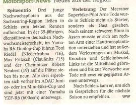 BLICK, Nachwuchspiloten, Claußnitz, Niederfrohna, Mühlau, ADAC Mini bike Cup
