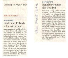 Riedel, Fritzsch, Schleizer Dreieck, Naturrennstrecke