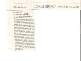 Chemnitzer Freie Presse 20.02.13