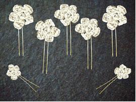 flores con hilo de plata novia