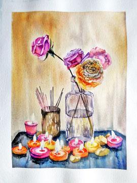 Peinture artistique à Lagord 17-03-2016