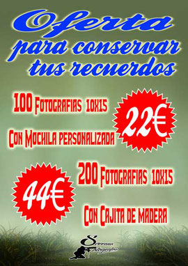 Oferta impresión de fotografías en Serrano Fotógrafo Atarfe