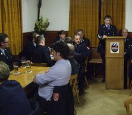 Kommandant Thomas Gebhard bei seinem Jahresbericht