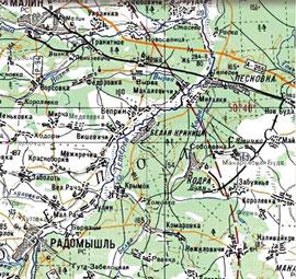 Карта 1980 года