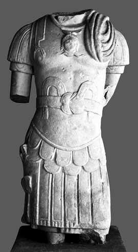 Cuirassed torso of an emperor in the National Museum in Skopje.